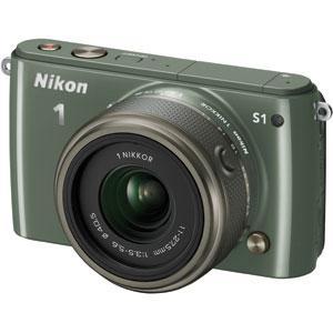 Nikon 1 S1 with 11-27.5mm尼康卡其色微单相机,可换镜头