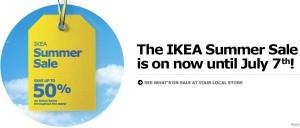 Ikea Summer Sale夏日促销今日起至7月7日截止