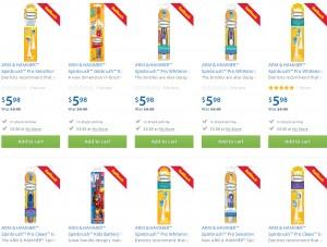 ARM & HAMMER™ Spinbrush™ 系列电动牙刷