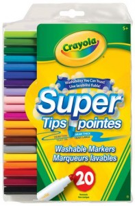 Crayola 20-Pack Washable Super Tip Markers可洗水彩笔