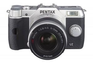 Pentax Q10 12.4 MP宾得银色微单相机