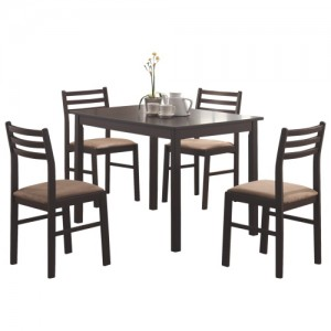 Coaster五件套餐桌餐椅清仓再降价59.47元包邮