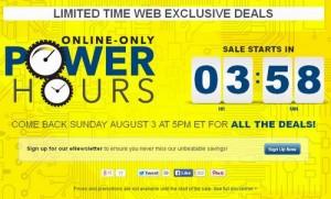 Bestbuy网站Power Hours限时促销
