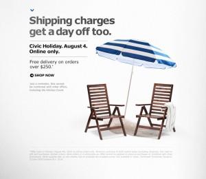 Ikea官网在线购物满250元包运费,仅限今日!