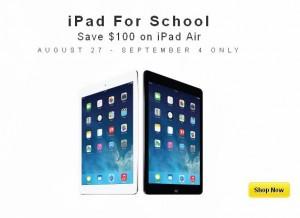 返校季iPad Air特卖优惠100元