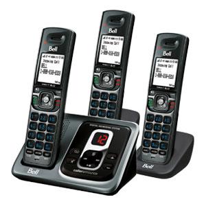 翻新BELL DECT 6.0 D2380-3 DIGITAL CORDLESS ANSWERING SYSTEM (3-HANDSET) 无绳电话