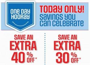 Sears Outlet男女服饰童装鞋包等折扣价上再打6-7折,仅限今日
