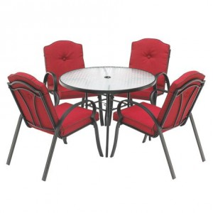Mainstays Rougemont 室外餐桌餐椅5件套
