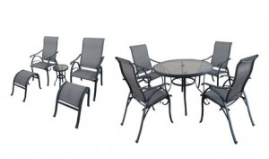 hometrends Bettona 10-Piece Sling Dining Set室外餐桌餐椅10件套