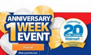Walmart二十周年庆大促销,现已正式开卖