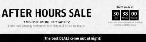 Future Shop After Hours Sale 本周六8时,本周日5时起特卖