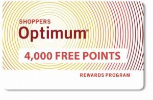 更新个人信息,免费送4000 Shoppers Optimum积分