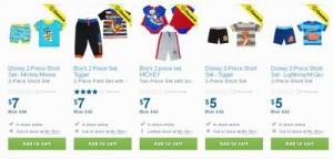 多款Disney 0-2岁男婴夏季套装衣服清仓