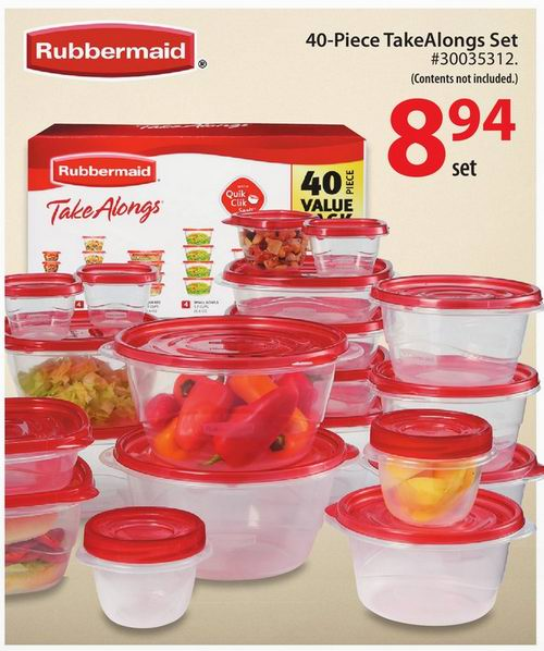 Rubbermaid Take ALongs Food Storage Set - 40 pcs食物保鲜盒
