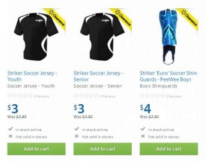 Striker 6-12岁球衣及4-6岁足球护腿
