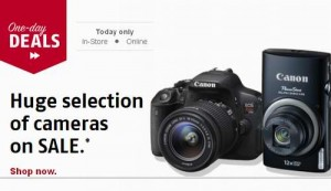 Future Shop相机及配套产品一日特卖及Canon EOS Rebel T5i 18MP DSLR Camera With 18-55mm/55-250mm Lenses, Tripod & Bag