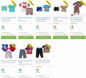 8款Disney 2-Piece Set婴幼儿两件套服装