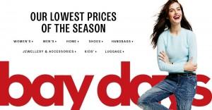 Hudson's Bay Days本季度最低价特卖