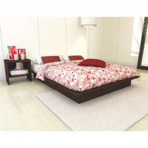 Sonax Plateau Contemporary Queen Bed - Maple Brown Queen床
