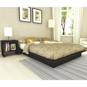 Sonax Plateau Contemporary Queen Bed - Black Queen床