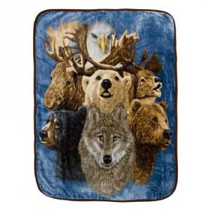 Mainstays High-Pile Animal Throw Blanket绒毛毯