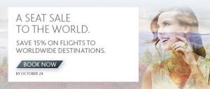 Air Canada加航全球航线8.5折3日特卖