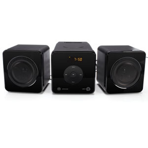 VTREK MICRO SYSTEM WITH 30-PIN IPHONE DOCK AND CD PLAYER