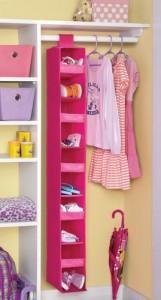 Your Zone Jr. 10 Shelf Closet Organizer pink