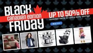 Sears Black Friday Canadian Edition指定产品5折起特卖