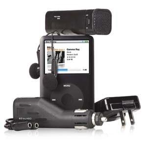Centrios iPod/MP3 Power Essentials Kit,带充电器、车载充电器、耳机、迷你音箱及配套线路等