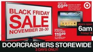 Target黑色星期五(11月28日-30日)打折信息