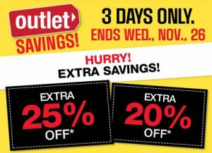 Sears Outlet指定类别产品3日特卖,另打7.5-8折
