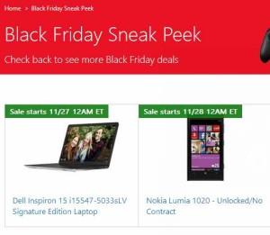 微软网店黑色星期五特卖信息预览(11月27日-28日)