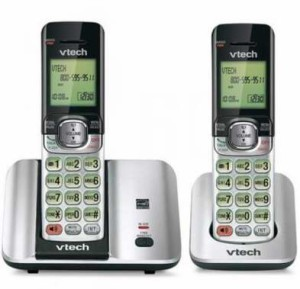 V-TECH® 6.0 Dual-Handset Cordless Phone With Quiet Mode无绳电话
