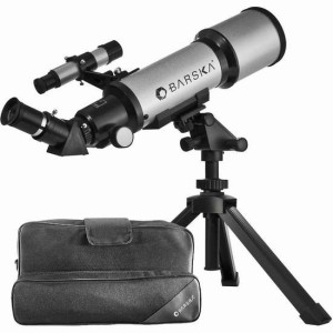 Barska AE10100 Starwatcher 40070 Compact Refractor Telescope with Table Top Tripod And Carrying Case (Silver)台式天文望远镜