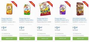 5款Pepperidge Farm Goldfish Crackers金鱼饼干 + 或每个Walmart订单赠送一瓶价值4元的水果口香糖