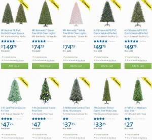 Walmart 11款半价清仓圣诞树现在全部2.5折了!