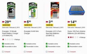 Best Buy及Future Shop70余款高能电池、充电电池、充电器2折起清仓
