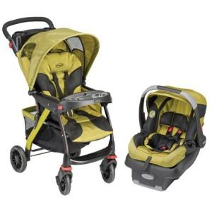 Evenflo EuroTrek Travel System - Sunningdale 婴儿推车汽车座椅套装