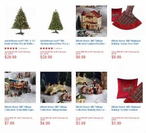 16款圣诞树及圣诞装饰品2折特卖,满50元再优惠10元
