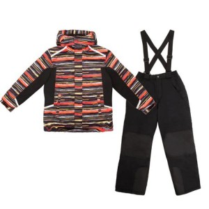 George Boys Two-Piece Snow Hoodie and Pants with Straps