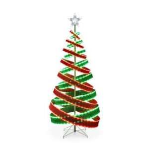 6Ft Red & Green LED Tape Light Ribbon Tree