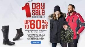 Sears指定款成人儿童冬季防寒服雪靴全部4折,满50元优惠10元