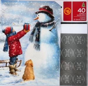 Walmart圣诞贺卡及礼物包装纸2.5价清仓,店内圣诞商品全面2.5折