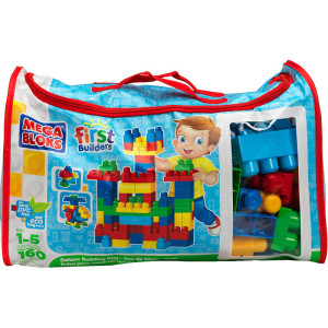 Mega Bloks First Builders Deluxe Building Bag两款积木(160-Piece)