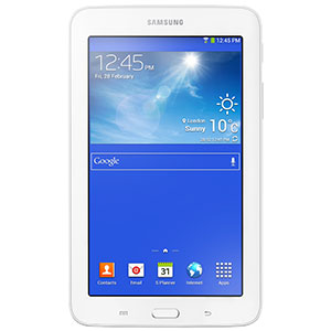 """SAMSUNG GALAXY TAB 3 LITE SM-T110 7"""" DUAL-CORE 8GB TABLET WITH ANDROID 4.2 JELLY BEAN - WHITE - DAMAGED BOX"""