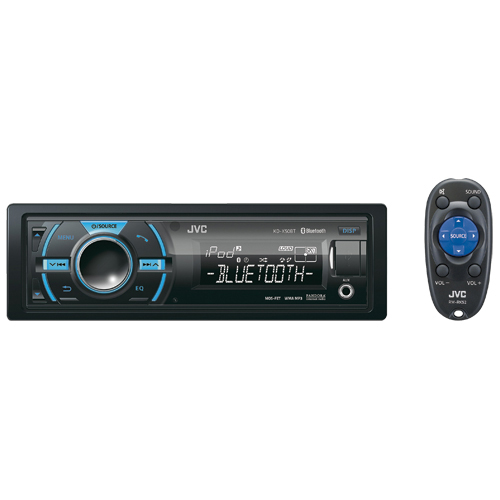 JVC Bluetooth Dual USB Media Deck with iPhone/ Android/ BlackBerry Control & Variable Colour (X50BT)