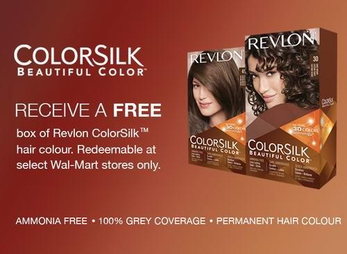 价值13.92元Revlon ColorSilk Beautiful Color染发剂免费提货券