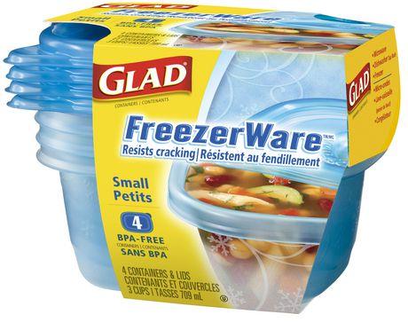 GLAD FREEZERWARE SMALL 冷藏保鲜盒 BPA free