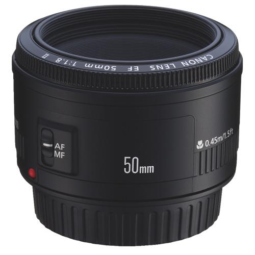 Canon® EF 50mm f/1.8 II Lens定焦镜头